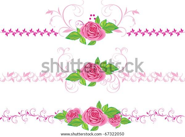 pink-roses-ornament-three-decorative-600