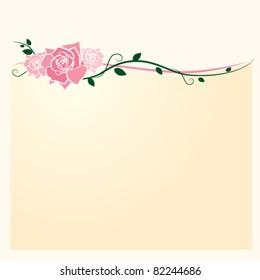 Pink Roses Wedding Invitation/Announcement