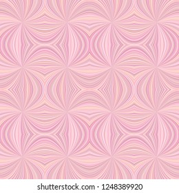 Pink seamless psychedelic abstract curved stripe pattern background - vector burst graphic design