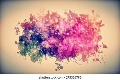Pink smoky cloud. Vector version