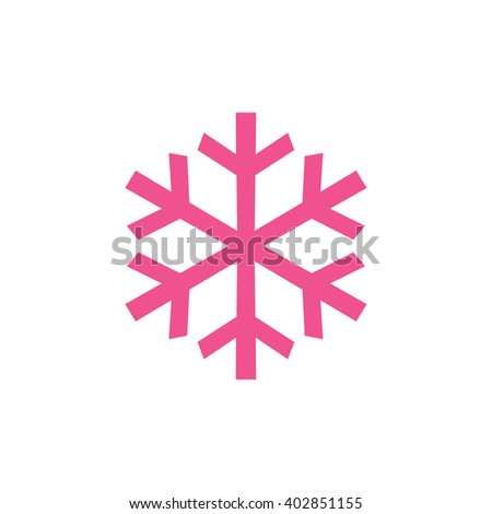 pink snowflake vector icon stock vector royalty free 402851155