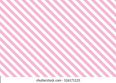 Pink stripes on white background. Striped diagonal pattern Vector illustration of Seamless background Christmas or winter theme Geometric pattern Background with slanted lines
