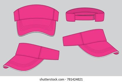 Pink Sun Visor Cap for Template