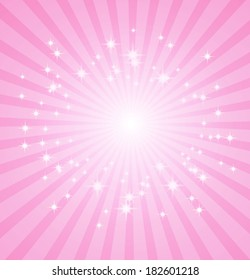 pink sunbeams grunge background