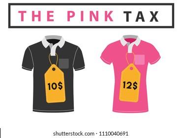 the pink tax concept vector illustration gender based price descrimination