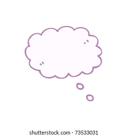 pink thought bubble cartoon