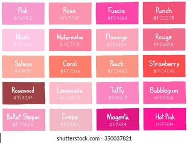 Imágenes, fotos de stock y vectores sobre Pink Color Shades