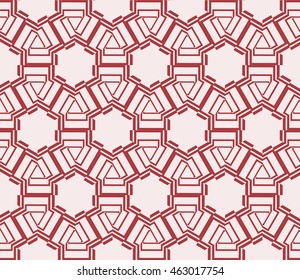 Pink tones. Geometric pattern as seamless vector illustration. For the interior design, printing, textile industry.