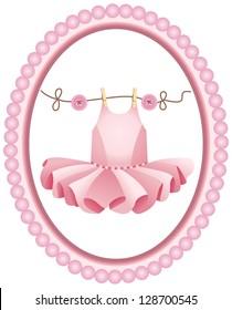 Pink tutu label