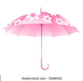 pink umbrella on a white background