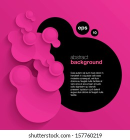 pink vector abstract background composed of overlapping circles