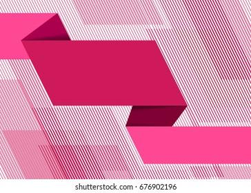 pink vector business marketing brochure