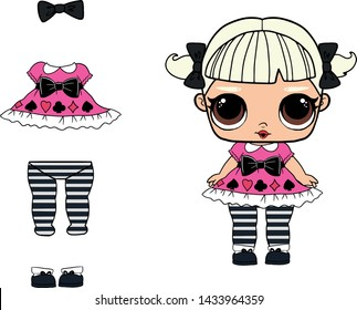 graphic relating to Lol Doll Printable titled Lol Speculate Photographs, Inventory Visuals Vectors Shutterstock