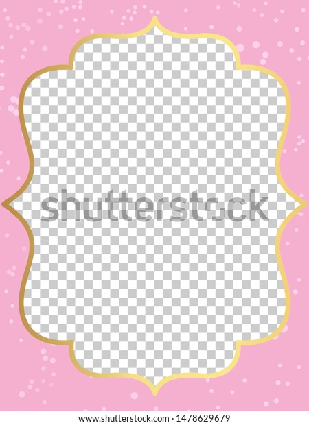 Pink Vector Template Invitation Card Little Royalty Free