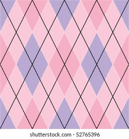 Pink and violet seamless argyle pattern