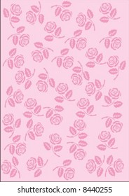 Pink  wallpaper whit roses (Seamless Repeat Pattern)