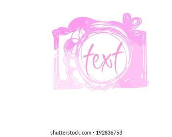 pink watercolor camera icon vector file