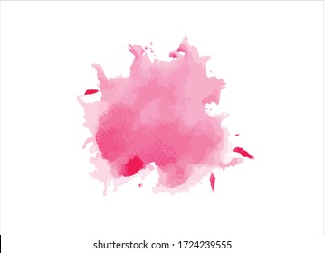 pink watercolor paint stroke background vector illustration