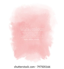 pink watercolor rectangle stain