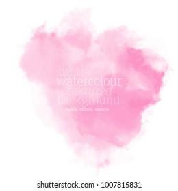pink watercolor splash