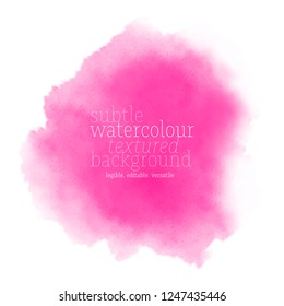 pink watercolor splash. vector eps 8