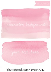 Pink Watercolor Vector Background