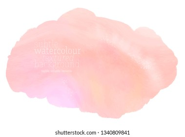 pink watercolor vector text cloud. light colorful ink stain on white background. soft water color splash textured paper. eps 8