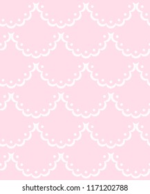 9b8aff5f0f Pink and white scalloped lacy edge embroidery
