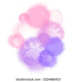 Pink wisteria watercolor