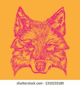 Orange Wolf Images Stock Photos Vectors Shutterstock
