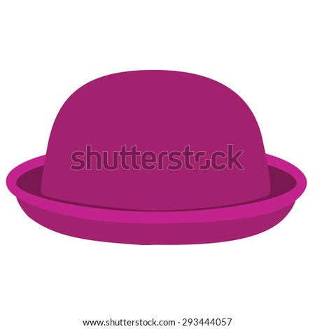 f966b723d00 Pink Woman Bowler Hat Derby Hat Stock Vector (Royalty Free ...