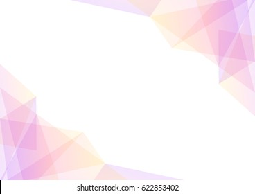 pink and yellow geometric spectrum abstract background, soft pink transparent layout, prism business template, vector illustration