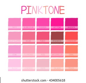 Pinktone Color Tone with Name Vector Illustration