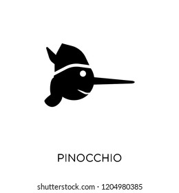 Pinocchio icon. Pinocchio symbol design from Fairy tale collection. Simple element vector illustration on white background.