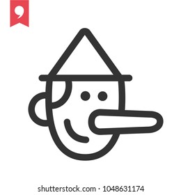 Pinocchio icon vector