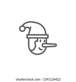 Pinocchio, Italy icon. Element of Italy icon. Thin line icon for website design and development, app development. Premium icon
