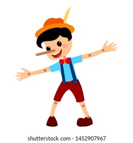 Pinocchio Tale Vectoral Illustration. For Children Book Covers, Magazines, Web Pages.