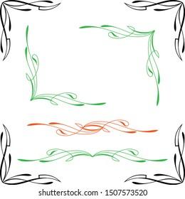 Pinstripe Corner Design Vector Illustration
