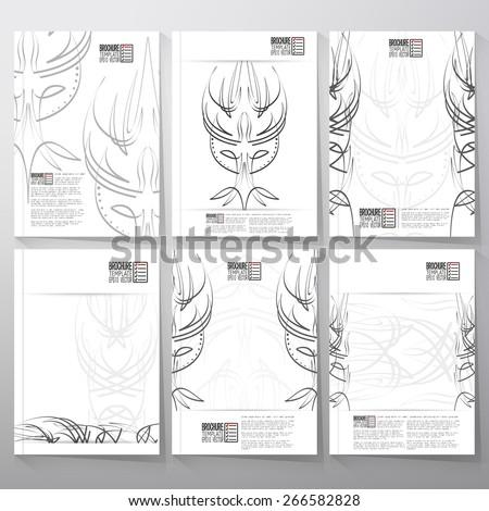 Pinstripe Design Backgrounds Brochure Flyer Report Stock Vector