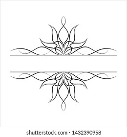 Pinstripe Design Vector Art Illustration
