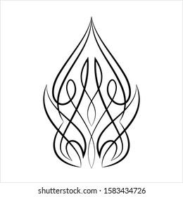Pinstripe Design Vector Art Illustration