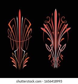 Pinstripe vintage hand drawn design vector
