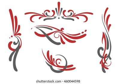 pinstriping ornaments set