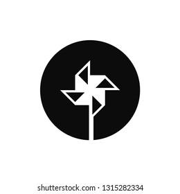 Pinwheel rounded icon