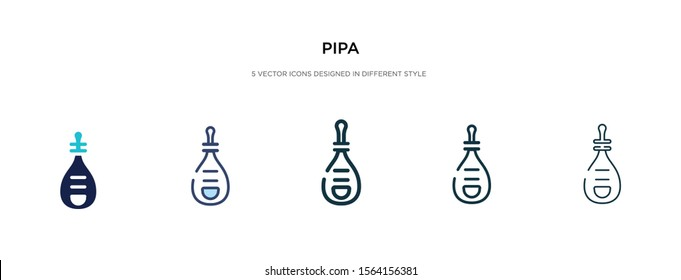 pipa icon in different style vector illustration. two colored and black pipa vector icons designed in filled, outline, line and stroke style can be used for web, mobile, ui