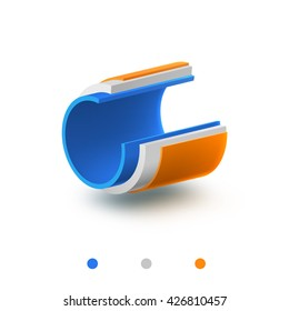 pipe 3 layers vector illustration structure object