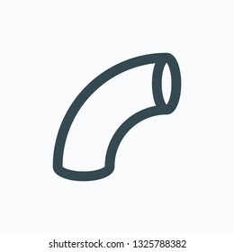 Pipe bend linear icon, tube bend vector icon