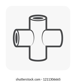 Pipe fitting and part for plumbing and piping work.