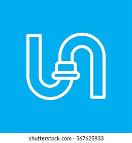 pipe icon illustration isolated vector sign symbol