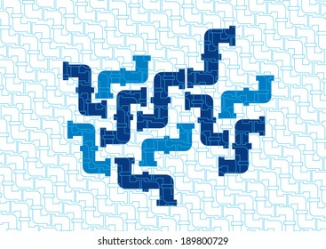 pipe illustration icon, Gas pipe. Water pipe set. Sewerage vector illustration. Water drain or drainage system